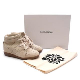 Isabel Marant Beige Bobby High Top Sneakers