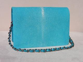 Hidetoshi Turquoise Stingray Crossbody Bag