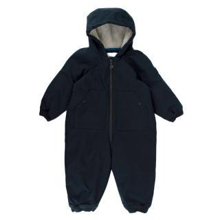 Bonpoint Navy Water Repellent Technical Snowsuit