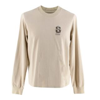 Stussy Beige Cotton S Triangle Long Sleeve T-Shirt