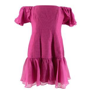 Keepsake Pink Sleeveless Bardot Mini Dress