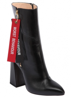 Havva 100mm Worst Behaviour Leather Boots In Black