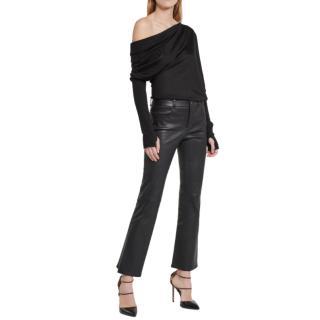 Tom Ford Black Silk & Cashmere Off Shoulder Top