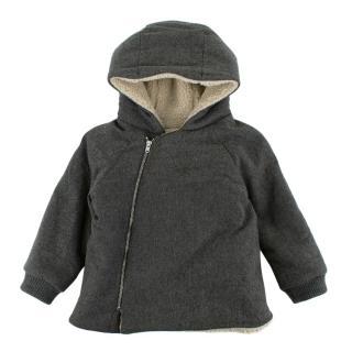 Bonpoint Grey Wool Blend Padded Coat