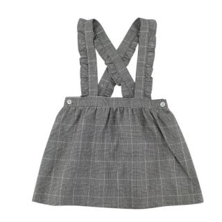 La Coqueta Black & White Check Baena Skirt