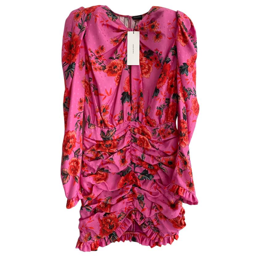 Magda Butrym Pink Silk Barletta Mini Dress