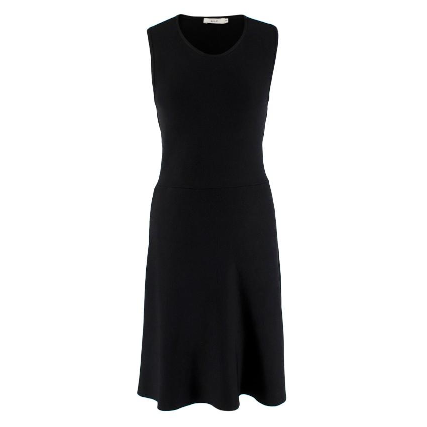 A.L.C. Black Knit Sleeveless Cutout Dress