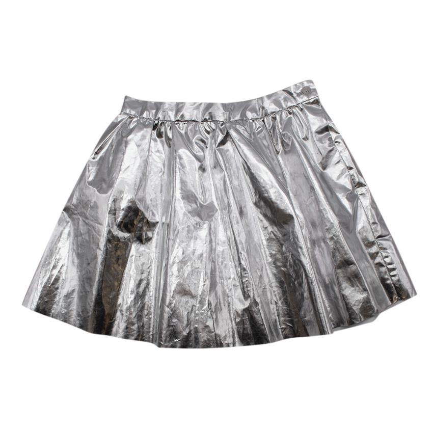 Bonpoint Girls Silver Pleated Skirt