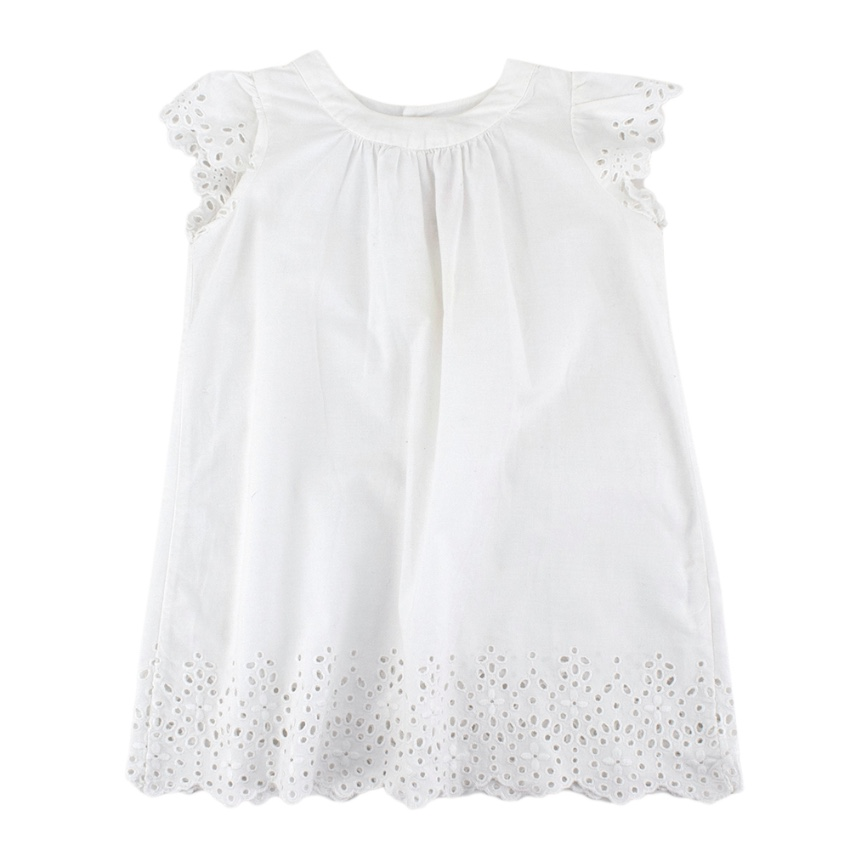 Bonpoint Baby White Broderie Anglaise Dress