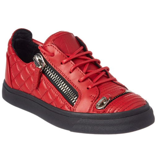 Giuseppe Zanotti Red Quilted Dylan Sneakers