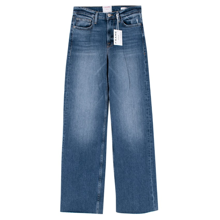 Frame Heritage Le California Blue Wide-leg Jeans