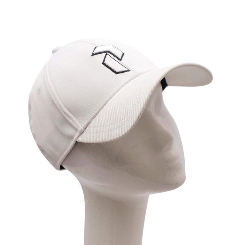 Peak Performance White Embroidered Retro Cap