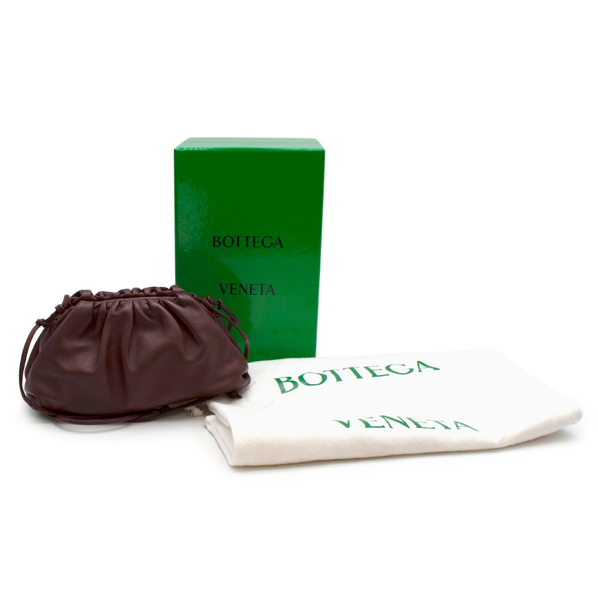 Bottega Veneta Grape Soft Leather Mini Pouch/Crossbody bag
