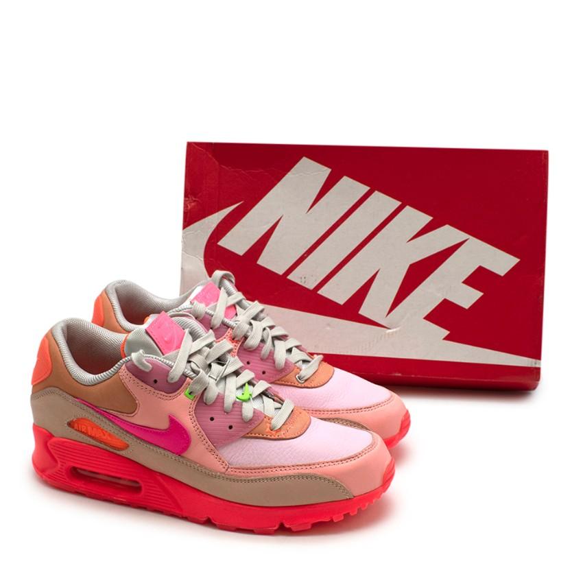 Nike Air Max 90 W Bright Crimson & Platinum Sneakers