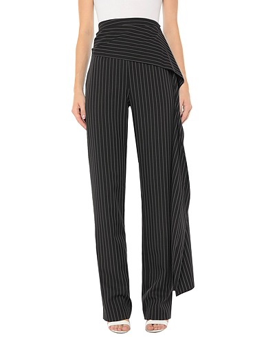 16Arlington Black Pinstripe Tailored Pants