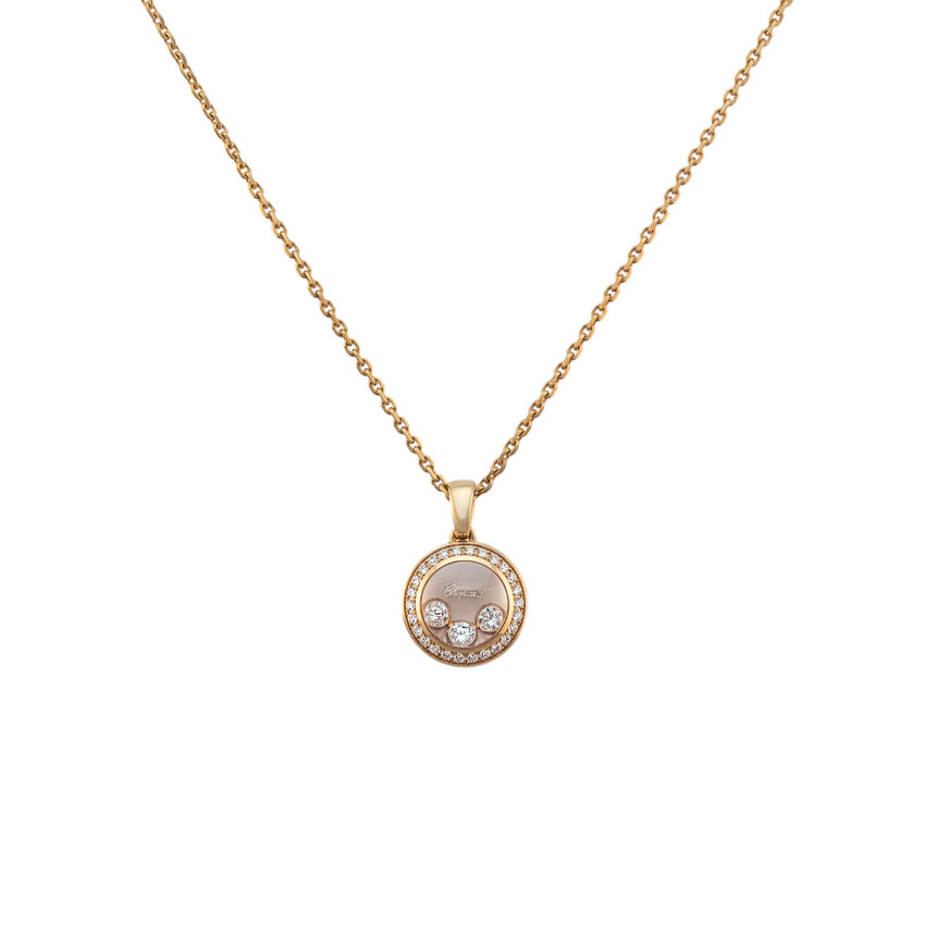 Chopard Happy Curves Rose Gold Diamond Necklace