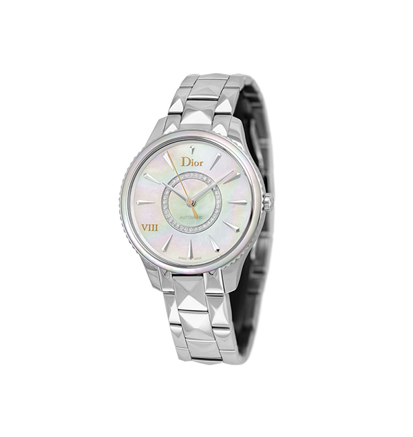 Dior 36mm Steel VIII Montaigne Wristwatch