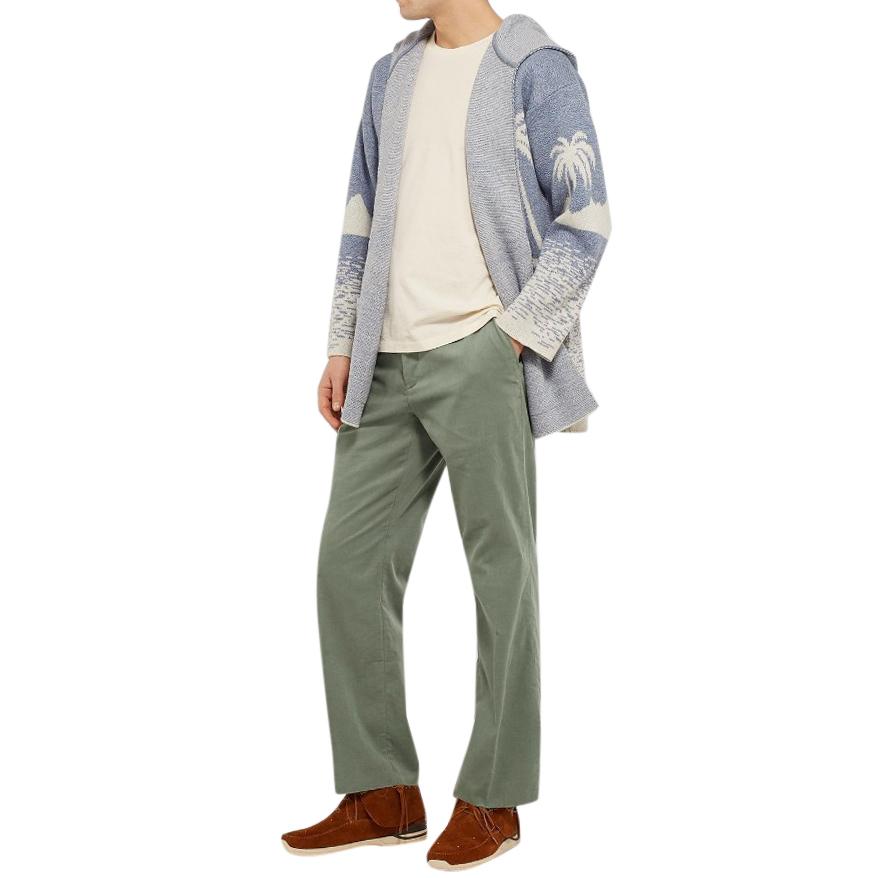 Alanui Green Cotton-Corduroy Trousers