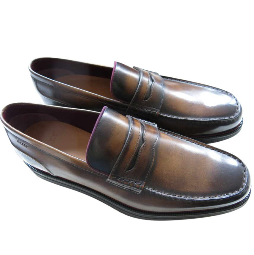 Bally Brown Leather Bardony Loafers