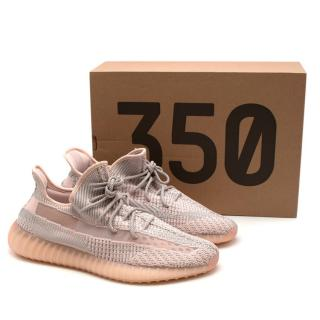Yeezy Pink/Grey Boost 350 V2 'Synth' Trainers- Sz 47