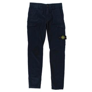 Stone Island Kids Navy Cotton Cavern Trousers