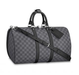 Louis Vuitton Damier Graphite Keepall Bandouliere 45