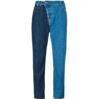 Vivienne Westwood Anglomania Blue Two-Tone Denim Jeans