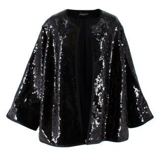 Stewart Parvin Black Sequin Embellished Jacket