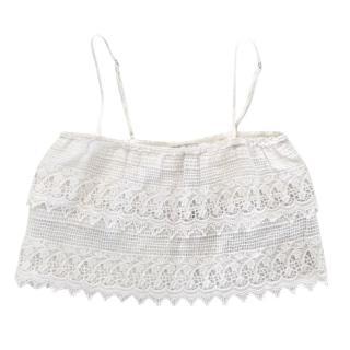 Migelina Amelia Crochet White Top
