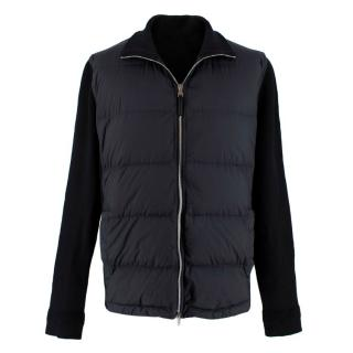 Louis Vuitton Black Knit Zip Quilted Down Jacket