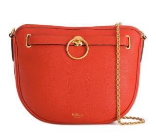 Mulberry Tangerine Leather Brockwell Shoulder Bag