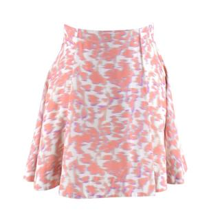 Balenciaga Pink Abstract Leopard Print A Line Mini Skirt