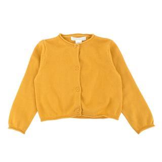 Marie Chantal Burnt Yellow Cotton Knit Cardigan
