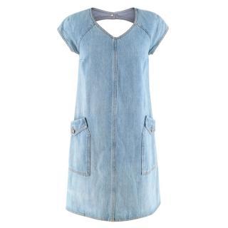 Chanel Blue Denim Cut Out Dress