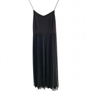 Victoria, Victoria Beckham Black Pleated Dress