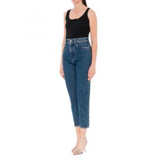 Miu Miu Icons Blue Cotton Brigitte Jeans