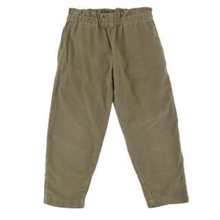 Bonpoint Khaki Cotton Corduroy Trousers