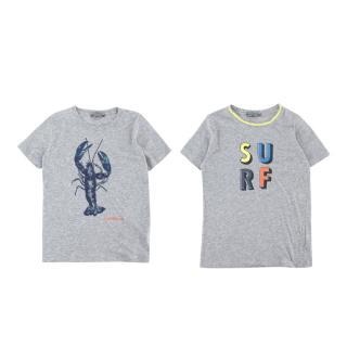 Bonpoint Grey Cotton Set of 2 T-shirts