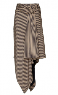 Jonathan Simkhai Asymmetric Twist Hem Midi Skirt