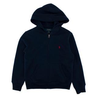 Polo Ralph Lauren Navy Cotton Zip-Up Hoodie