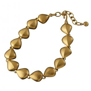 Givenchy Vintage Gold Tone Shell Necklace