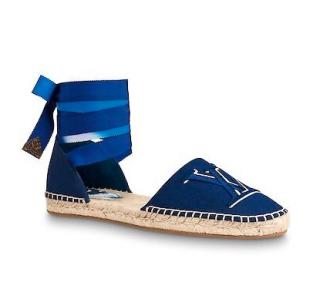 Louis Vuitton Blue Monogram Starboard Espadrille Sandals