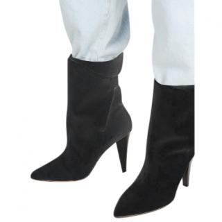 Iro Black Suede Marsa Ankle Boots