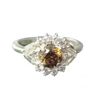 Bespoke 18ct White Gold White & Chocolate Diamond Ring