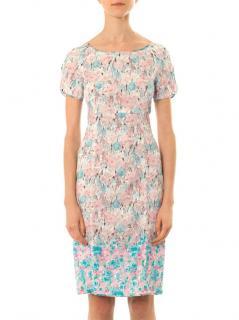 Nina Ricci floral print lace dress