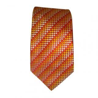 Turnbull Asser Orange Silk Classic Tie