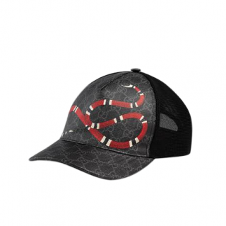 Gucci Black Supreme Mesh Kingsnake Baseball hat