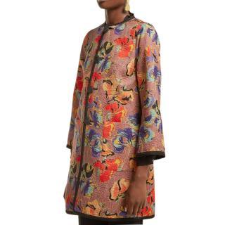 Etro Multicoloured Embroidered Reversible Coat