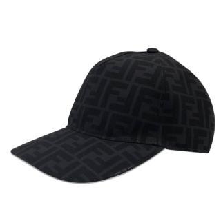 Fendi Black Monogram Cap