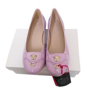 Young Versace Kids 6Y Pink Ballerinas